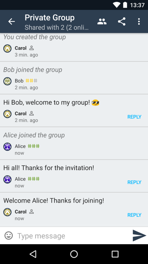 Screenshot of Briar 04 private group.png