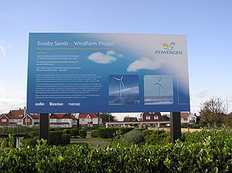 Scroby Sands Wind Farm - Image: Scrobysands 04.11.2005.c