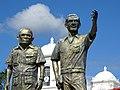 Sculptures of FSLN Founders Tomas Borge and Carlos Fonseca - Matagalpa - Nicaragua (31672143316).jpg