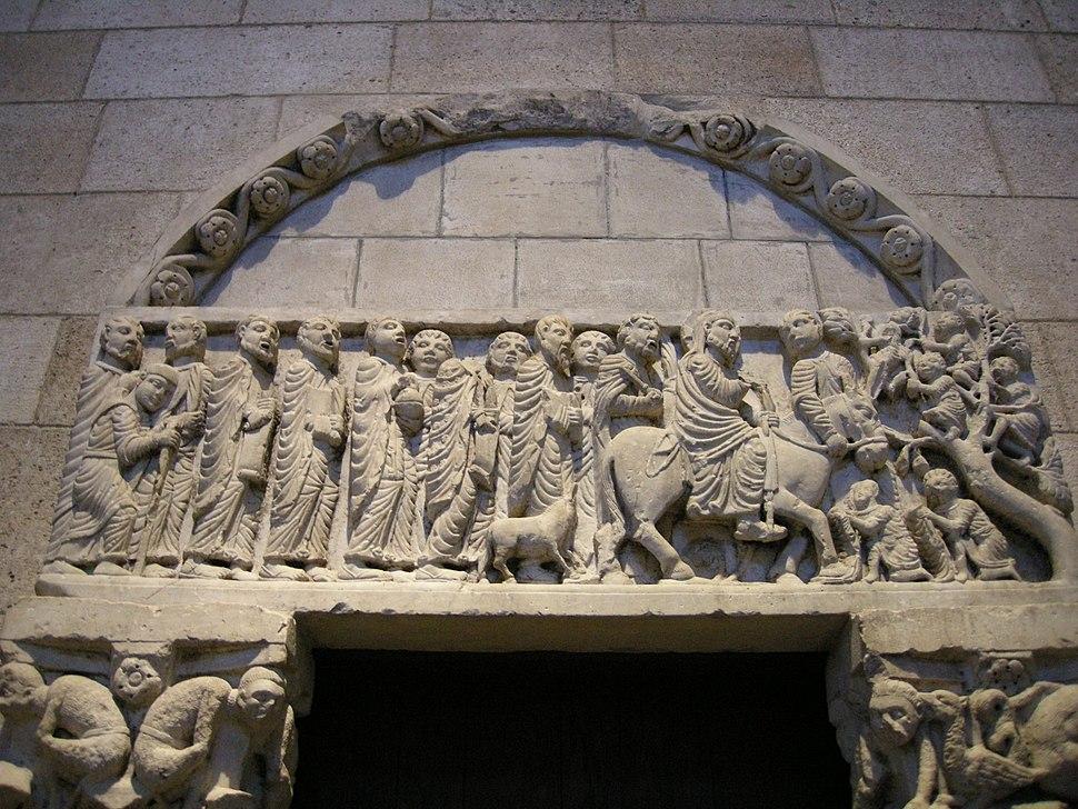 Scuola di biduino, portale da san leonardo al frigido, vicino massa carrara, 1170-1180 circa 01