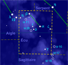 alt=Description de l'image Scutum constellation map-fr.png.