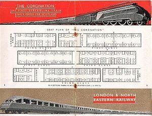 The Coronation (train) - Seating plan of LNER Coronation train