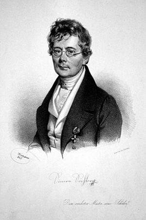 Simon Sechter - Simon Sechter. Lithograph by Josef Kriehuber, 1840