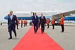 Secretary Kerry Walks with Georgian Foreign Minister Janelidze at the Tbilisi International Airport in Georgia (27510410774).jpg