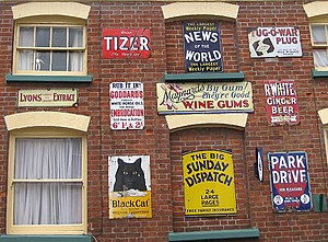 Enamel sign - A selection of historic enamel signs advertising a variety of products, Herefordshire, Great Britain