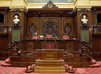 Seat of the presiding officers of the Senate