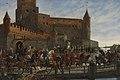 Severin Falkman - Karl Knutson Bonde Leaving Vyborg Castle for the Royal Election in Stockholm 1448.jpg