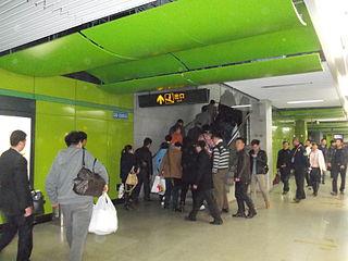 Chuansha station Shanghai Metro station