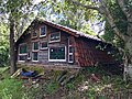 Shed with stained glass windows in Kenmore, Queensland 02.jpg