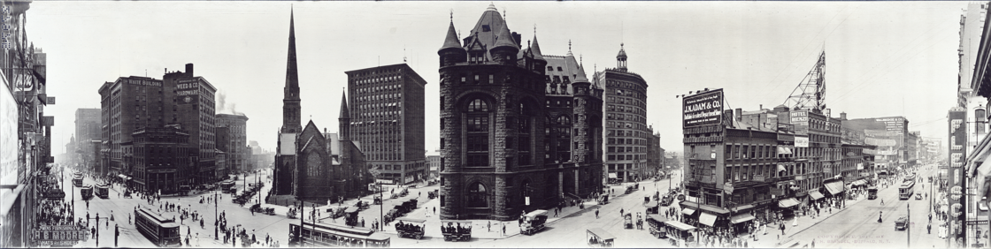 Panorama Of Downtown Buffalo In 1911 Looking West From Shelton Square