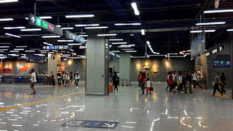Chegongmiao station - Image: Shenzhen Metro Line 7&9 Chegongmiao Sta Transferring Platform