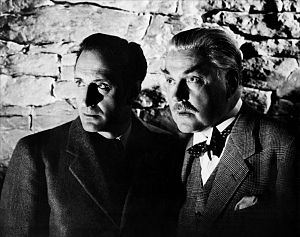 Sherlock Holmes (1939 film series) - Basil Rathbone and Nigel Bruce in Sherlock Holmes and the Secret Weapon