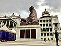 Side view of Mahatma Gandhi statue in Vidhan Soudha.jpg