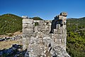 Sideview of a derelict tower at the fortress of Eleutherai on August 30, 2020.jpg