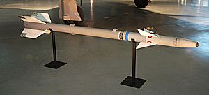 AIM-9 Sidewinder - An AIM-9E Sidewinder missile on display at the National Air and Space Museum