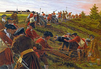 Siege of Louisbourg (1745) - New England troops during the siege.