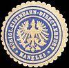 Siegelmarke Königliche Eisenbahn - Direction Erfurt - Kanzlei W0210881.jpg
