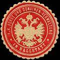 Siegelmarke K.K. Forst- und Domänen-Verwaltung in Hallstatt W0317022.jpg