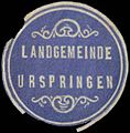 Siegelmarke Landgemeinde Urspringen W0364683.jpg