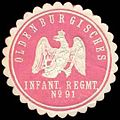 Siegelmarke Oldenburgisches Infanterie Regiment No. 91 W0246421.jpg