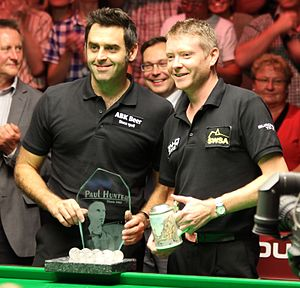 Ronnie O'Sullivan - O'Sullivan after winning the Paul Hunter Classic