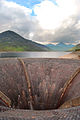 Silent Valley Reservoir, bell-mouth spillway.jpg