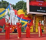 Singers perform during the 1,000-year celebrations in Hanoi, October 2010 (5052684109).jpg
