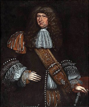 Sir George Downing, 1st Baronet - Portrait by Thomas Smith, c. 1675–1690