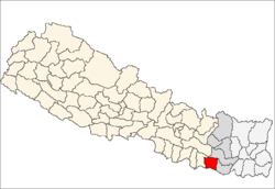 map of Siraha, Nepal