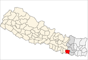 Siraha District - Image: Siraha district location