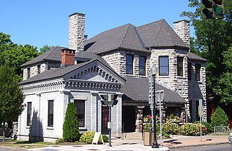 Skaneateles (village), New York - The Skaneateles Library and John D. Barrow Art Gallery (1886–87), part of the Historic District