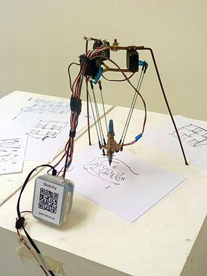 Parallel manipulator - Image: Sketchy, portrait drawing delta robot
