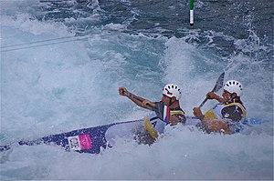 Slalom canoeing 2012 Olympics C2 CZE Jaroslav Volf and Ondřej Štěpánek (2).jpg