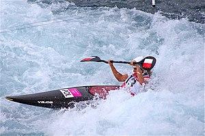 Slalom canoeing 2012 Olympics W K1 POL Natalia Pacierpnik.jpg