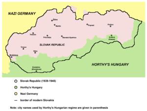 Slovak Republic (1939–1945) - Slovakia in 1941