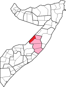 Location of Abudwak District within the Galguduud region.