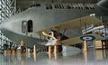 Sopwith F.1 Camel Replica LFront Under Hughes H-4 Hercules Valder EASM 4Feb2010 (14611198713).jpg