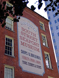 South Street Seaport Museum Wall Sign.JPG
