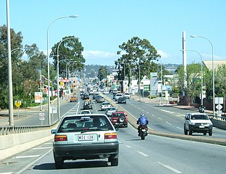 South Road, Adelaide - Image: South rd edwardstown south