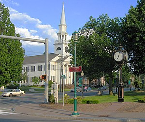 Southington, Connecticut - First Congregational Church in town center