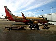 A Southwest plane at Chicago Midway International Airport