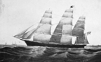 Sovereign of the Seas (clipper) - Drawing of Sovereign of the Seas from a 1910 book