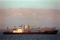 Soviet dry cargo ship Anton Makarenko, 1991.JPEG
