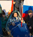 Soyuz TMA-09M Fyodor Yurchikhin shortly after landing.jpg