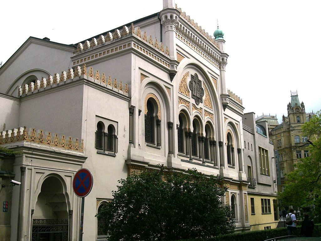 Extérieur de la Synagogue Espagnole de Prague - Photo de Chmee2