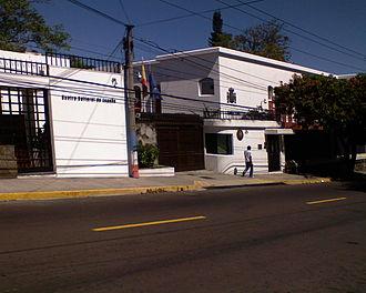 El Salvador–Spain relations - Image: Spanish embassy in San Salvador
