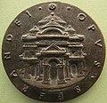 Sperandio, medaglia di francesco I sforza, verso con mausoleo, 1466.JPG