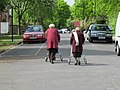Spring walk with mobility aids - geograph.org.uk - 1842377.jpg