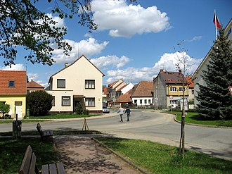 Střelice (Brno-Country District) - Image: Střelice, centrum obce