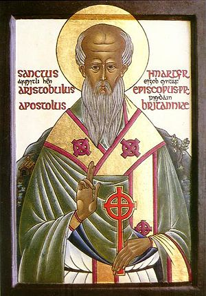 Modern icon of Aristobulus of Britannia St. Aristobulus of Britain.jpg